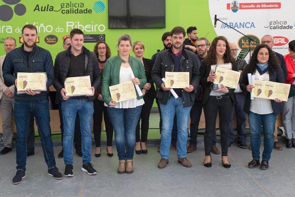 entrega de premios a los ganadores de la cata popular de vios ribeiro