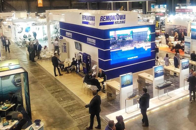 Construcción de stand navalia 2020 en Vigo Galicia